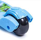 Самокат детский складная ручка Smart mini. Щенячий патруль. Колеса светятся при катании!, фото 5