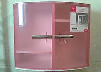 Шкафчик с дверцами для ванных комнат, цвет розовый