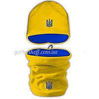 Набор Бафф (Горловик) + Шапка в стиле Украина жёлто / электрик