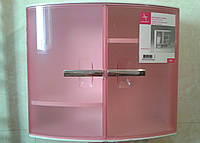 Шкафчик с дверцами для ванных комнат, цвет розовый, фото 1