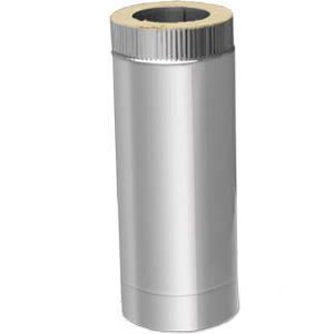 Труба термо ø 120/180 1м 0.5 мм сталь нержавійка/нержавійка
