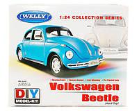 Сборная модель машинка металл 1:24 VW BEETLE WELLY