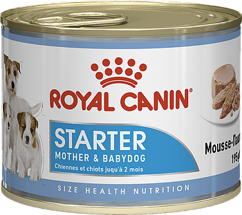 Консервированный корм для щенков ROYAL CANIN STARTER MOTHER & BABYDOG MOUSSE, 12 шт*195 г