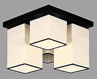 Люстра потолочная на четыре лампы 29-H178/4 BK+WT