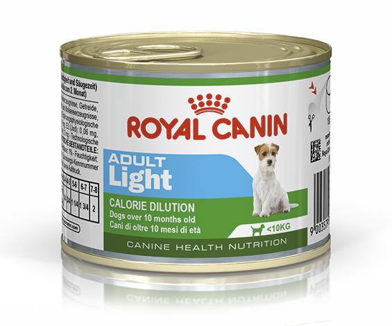 Консервированный корм для собак ROYAL CANIN ADULT LIGHT, 12шт*195 г