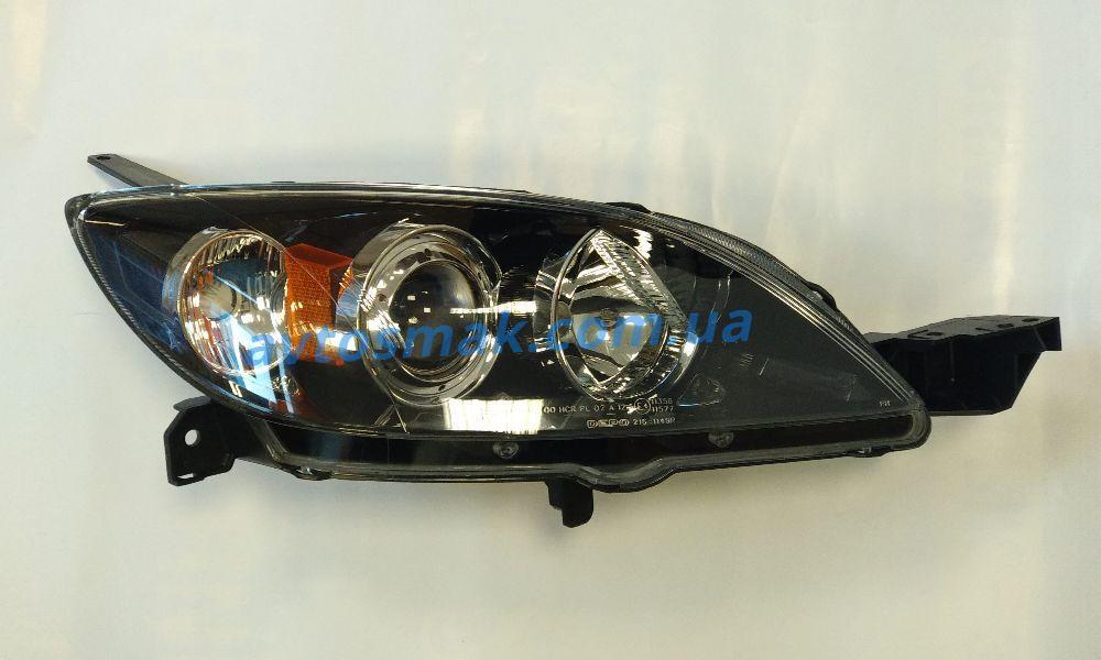 Фара передняя для Mazda 3 '04-09 правая, хетчбек (DEPO) под электрокорректор