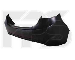Бампер задний Hyundai Elantra 11- (один выхлоп) черный (FPS)
