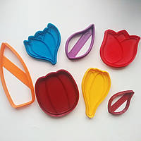 """3D формочки-вырубки для пряников """"Тюльпаны.Крокус.Листики"""""""