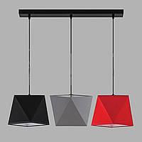 Люстра подвесная на три лампы 29-H162/3 BK+MIX