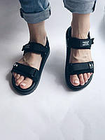 Босоніжки чорні, босоніжки спортивні, босоніжки жіночі, босоножки черные, спортивные босоножки р 36
