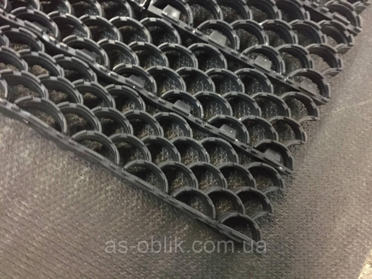 Модульна брудозахисна решітка 620х355  мм сірого кольору