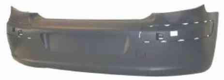 Бампер задний Peugeot 307 01-05 hb с отверстиями под накладки (FPS)