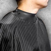 Пеньюар парикмахерский Neocape чёрный в полосочку накидка кейп