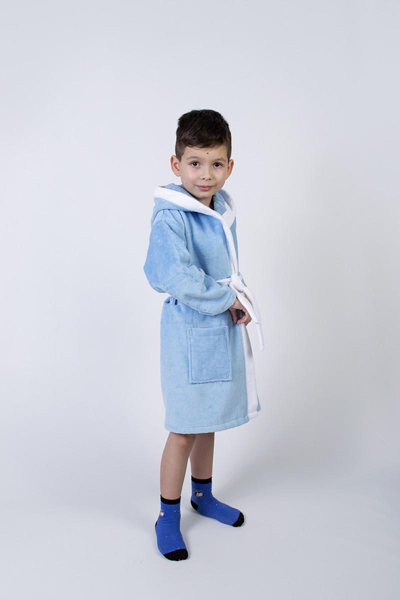 Халат детский Lotus - Зайка новый 9-10 лет голубой