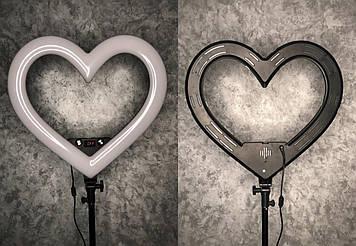 Кольцевая светодиодная LED Лампа 46 см, кольцевой свет, селфи лампа Сердце