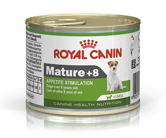 Консервированный корм для собак ROYAL CANIN MATURE +8, 12шт*195г