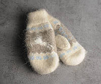 Шерстяные варежки, варежки из козьего пуха, теплые варежки, фото 1