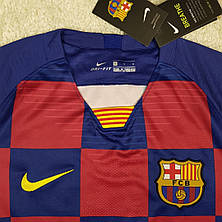 Футбольная форма Барселона, длинный рукав, домашняя 2019-2020, гранатовая, фото 3