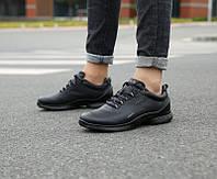 Мужские кожаные кроссовки кеды ECCO Biom, чёрный. Размер 41-44