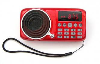 FM Радиоприемник UKC SPS U-11 JF-11 с MP3 , красный