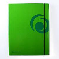 Папка A4 на резинке XL, ламинированный картон, зеленая