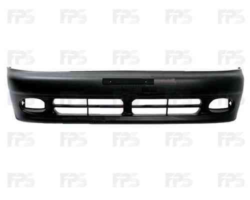 Бампер передний Daewoo Lanos 98- без шины черный (кроме sport) (FPS)