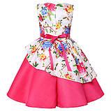 Рожеве асиметричне дитяче ошатне плаття 122-134, фото 2
