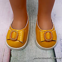 Туфли желтые с бантиком для кукол Паола Рейна
