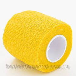 Бандажный бинт для тату держателя желтый
