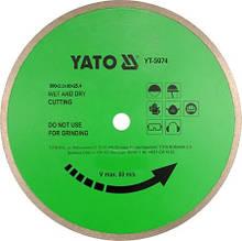 Диск отрезной алмазный по керамике 300 мм YATO YT-5974 (Польша)