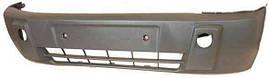 Бампер передний Ford Transit Connect 02- черный без отверстий под противотуманные фары (FPS). 4484465