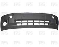 Бампер передний Ford Transit Connect 02- черный с отверстиями под противотуманные фары (FPS)