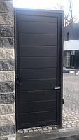 Откатные ворота из сендвич-панелей ш4500, в2500 и калитка ш900, в2500, фото 3