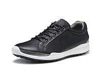Мужские кожаные кроссовки кеды ECCO Golf Biom Hybrid, чёрный. Размер 41-44