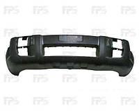 Бампер передний Hyundai Tucson 04-13 черный с отверстиями под противотуманные фары (FPS)