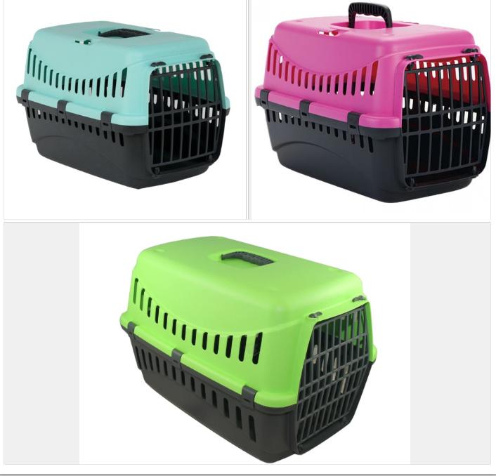 Переноска  GIPSY 1 small для собак та котів, пластикові дверцята, 44x28,5x29,5 см
