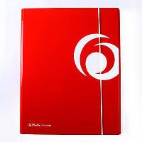 Папка A4 на резинке XL, ламинированный картон, красная