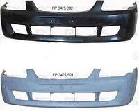 Бампер передний Mazda 323 98-01 F/S без отверстий под молдинг (FPS)