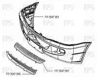 Бампер передний Mercedes Sprinter 06. 06- с отверстиями под противотуманные фары (FPS)