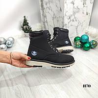 Женские ботинки зимние черные, фото 1