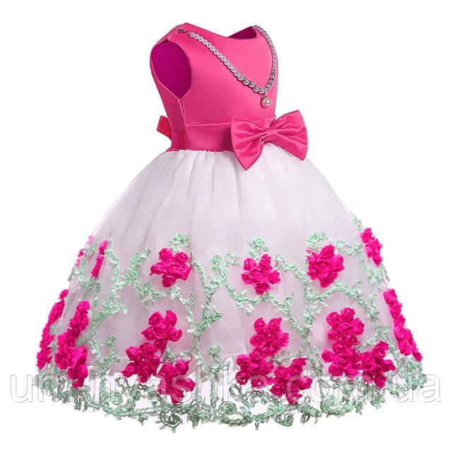 нарядное розовое платье на 7 лет