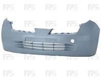 Бампер передний Nissan Micra K12 -10 без отверстий под противотуманные фары (FPS)