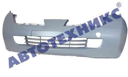 Бампер передний Nissan Micra K12 -10 с отверстиями под противотуманные фары (FPS)