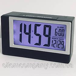 Часы настольные электронные на батарейках 2165 с подсветкой