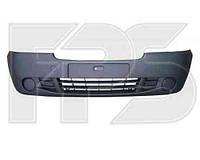 Бампер передний Renault Trafic, Opel Vivaro 02- без отверствий под противотуманные фары (FPS)