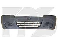 Бампер передний Renault Trafic, Opel Vivaro 02- без отверстий под противотуманки темно-серый (FPS)