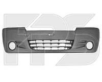 Бампер передний Renault Trafic, Opel Vivaro 02- с отверстиями под противотуманные фары (FPS)