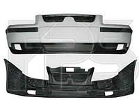 Бампер передний Samand EL/LX 06- в сборе (верхняя, нижняя часть, накладки, решетки (FPS)
