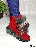 Ботинки зимние женские с мехом, фото 1