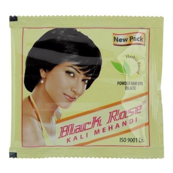 Краска для волос на основе хны чёрная (Kali Mehandi, Black Rose), 50 грамм